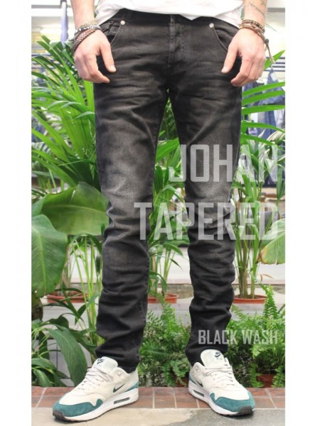 джинсы AM JOHAN black wash